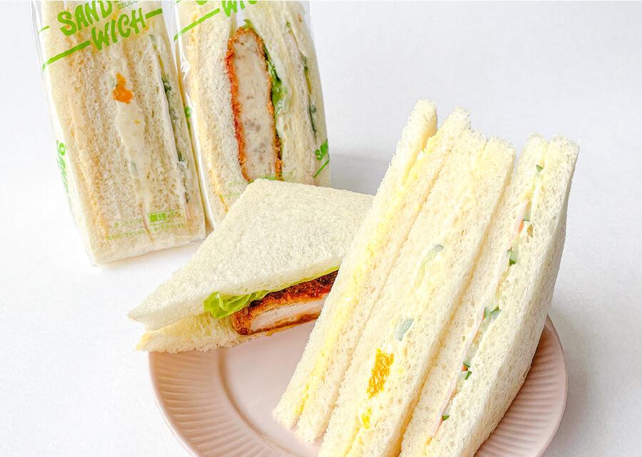 三角サンドイッチ